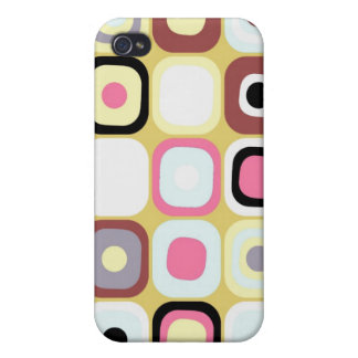 Modern Eames Rectangles Cases For iPhone 4