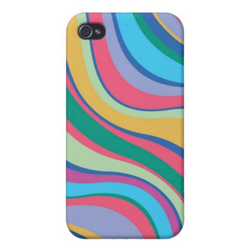 Modern Eames Waves 8 iPhone 4 Cases