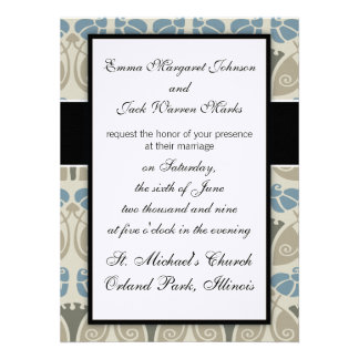 modern earthy damask nature pattern announcement