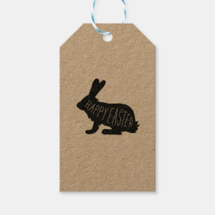 Easter bunny gift tags zazzle modern easter bunny gift tag happy easter negle Image collections