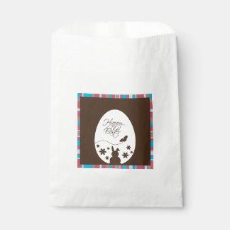 Modern Easter Egg Brown - Favor Bag Favour Bags