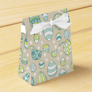 Modern Easter Egg Drawing Pattern Favour Bags Wedding Favour Box