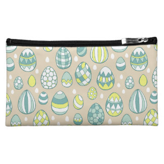 Modern Easter Egg Drawing Pattern Makeup Case Cosmetics Bags