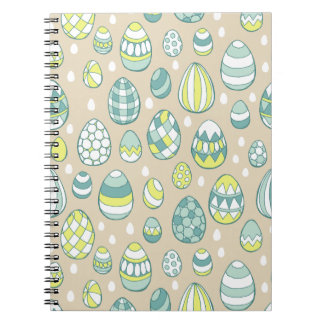 Modern Easter Egg Drawing Pattern Notebook