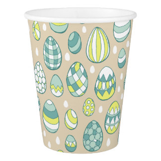 Modern Easter Egg Drawing Pattern Paper Cups