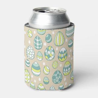 Modern Easter Egg Drawing Pattern Stubby Holder Can Cooler