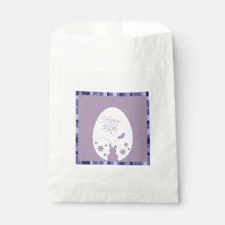 Modern Easter Egg Purple - Favor Bag Favour Bags