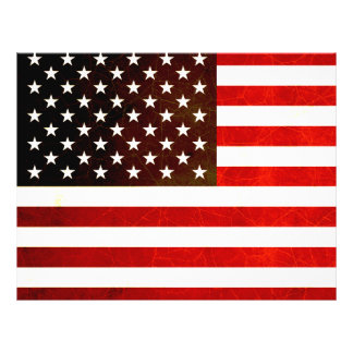 Modern Edgy American Flag 21.5 Cm X 28 Cm Flyer