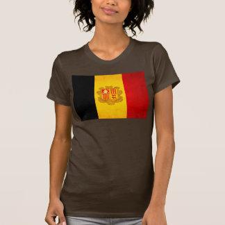 Modern Edgy Andorran Flag T Shirt