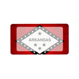 Modern Edgy Arkansan Flag Address Label
