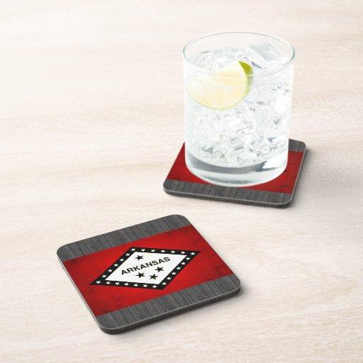 Modern Edgy Arkansan Flag Beverage Coasters