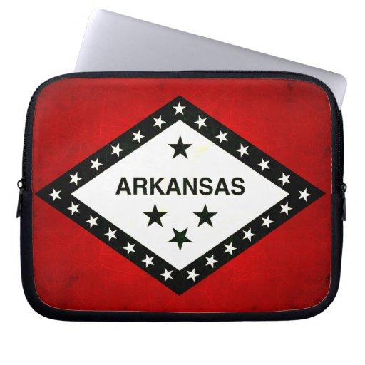Modern Edgy Arkansan Flag Computer Sleeve