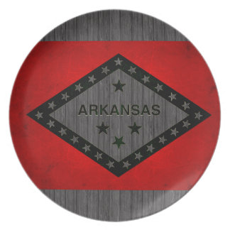 Modern Edgy Arkansan Flag Party Plate