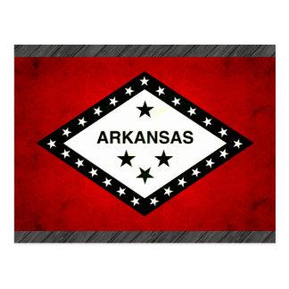 Modern Edgy Arkansan Flag Postcard