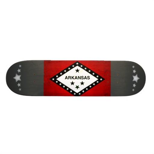 Modern Edgy Arkansan Flag Skateboards