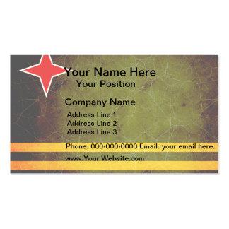Modern Edgy Aruban Flag Business Card