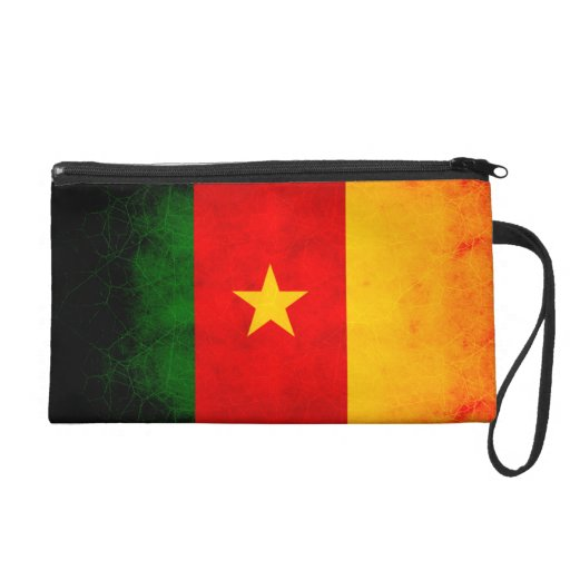 Modern Edgy Cameroonian Flag Wristlet Purses