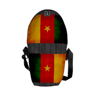 Modern Edgy Cameroonian Flag Courier Bags