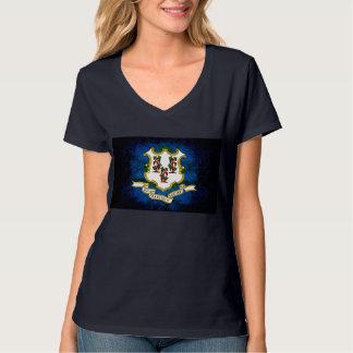 Modern Edgy Connecticuter Flag T-Shirt