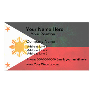Modern Edgy Filipino Flag Business Card Templates