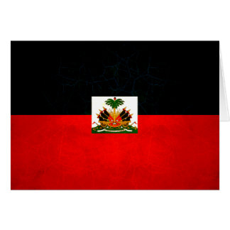 Modern Edgy Haitian Flag Greeting Card