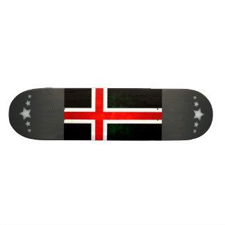 Modern Edgy Icelander Flag Skateboard Deck
