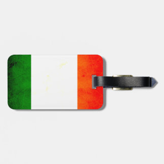 Modern Edgy Irish Flag Luggage Tag