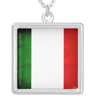Modern Edgy Italian Flag Custom Jewelry