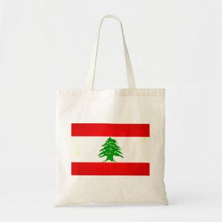Modern Edgy Lebanese Flag Canvas Bags