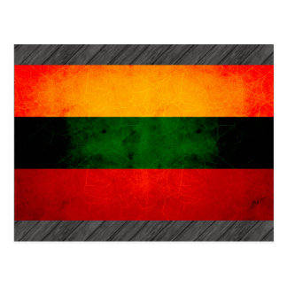 Modern Edgy Lithuanian Flag Postcard