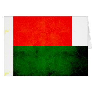 Modern Edgy Malagasy Flag Cards