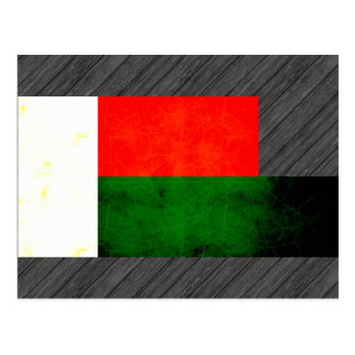Modern Edgy Malagasy Flag Post Cards