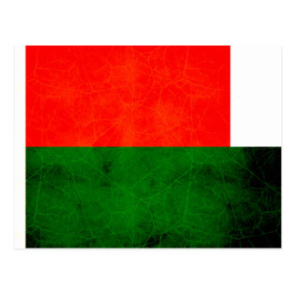 Modern Edgy Malagasy Flag Postcards