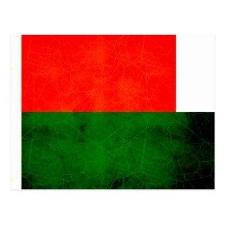 Modern Edgy Malagasy Flag Postcard