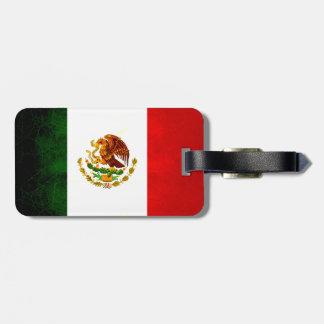 Modern Edgy Mexican Flag Bag Tag