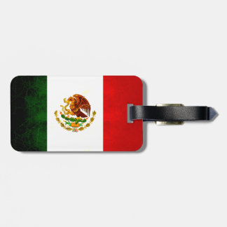 Modern Edgy Mexican Flag Luggage Tag
