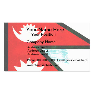 Modern Edgy Nepalese Flag Business Card