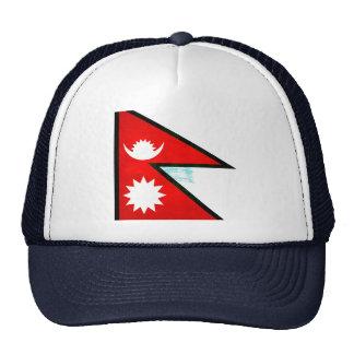 Modern Edgy Nepalese Flag Hat
