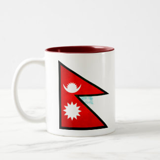 Modern Edgy Nepalese Flag Mug