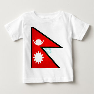 Modern Edgy Nepalese Flag Tee Shirts