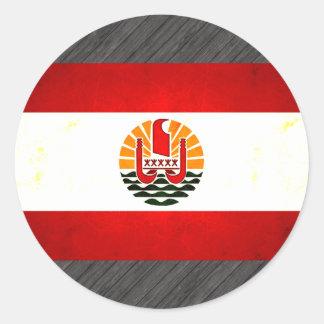 Modern Edgy Polynesian Flag Stickers