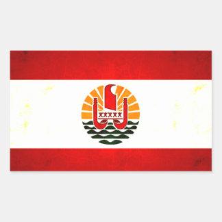 Modern Edgy Polynesian Flag Rectangular Sticker