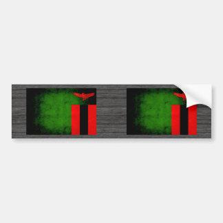 Modern Edgy Zambian Flag Bumper Sticker
