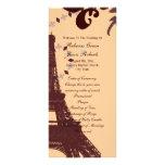 modern eiffel tower vintage paris wedding programs customized rack card