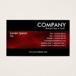 Modern - Electric Rain Red Business Card