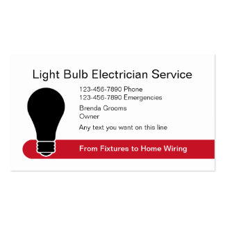 Modern Electrician Business Cards Business Card Templates