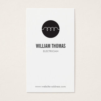 MODERN ELECTRICIAN LOGO BUSINESS CARD