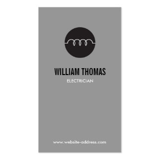 MODERN ELECTRICIAN LOGO on GRAY Pack Of Standard Business Cards