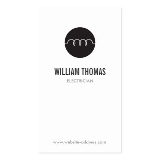 MODERN ELECTRICIAN LOGO PACK OF STANDARD BUSINESS CARDS