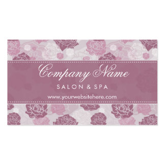 Modern Elegance Floral Roses Business Cards